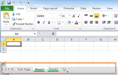 the microsoft excel template in this example contains multiple sheets
