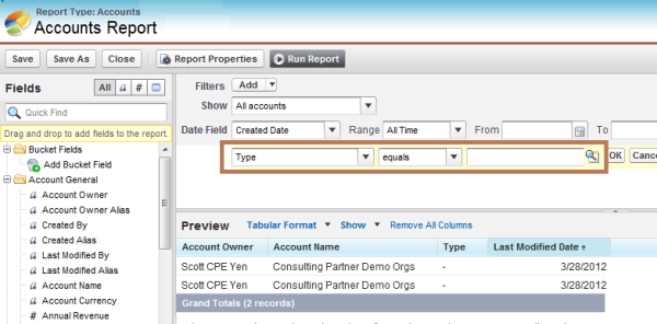 Merge Salesforce reports into a template