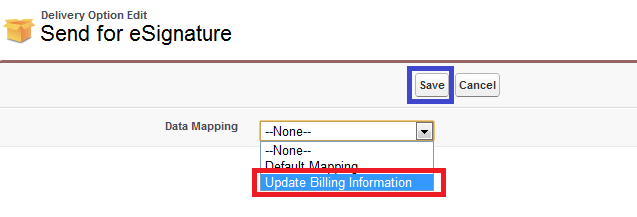 Optional) Adobe Sign data mapping on