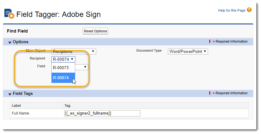 Tag Templates For Adobe Sign