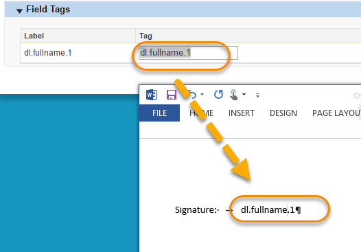 Tag Templates | Tag Templates For Onespan Sign
