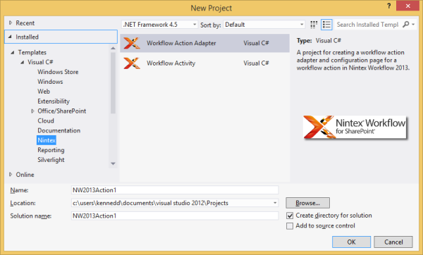 Installing and using Visual Studio templates