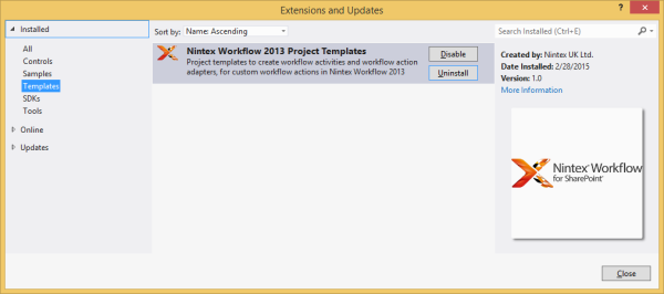 Installing and using Visual Studio templates